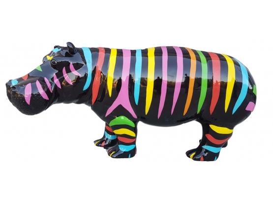 Sculpture Hippopotame XXL en Résine - 180 CM
