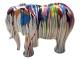 Sculpture éléphant design Trash blanc en résine - 80 cm Blanc multicolore 2