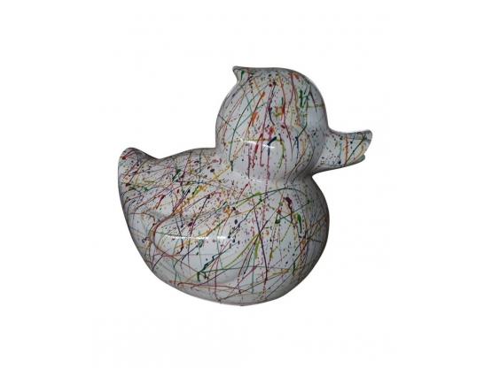 Sculpture en résine Canard Graphity Blanc - 65 CM
