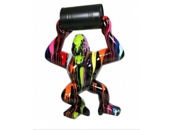 Statue en résine Gorille Bidon Trash XXL