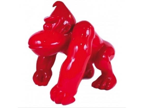 Sculpture en résine Gorille donkey kong Rouge - 40 cm
