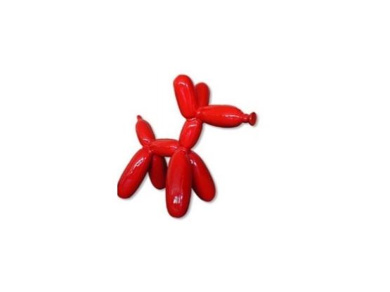 Statue chien ballon Rouge - 70 cm