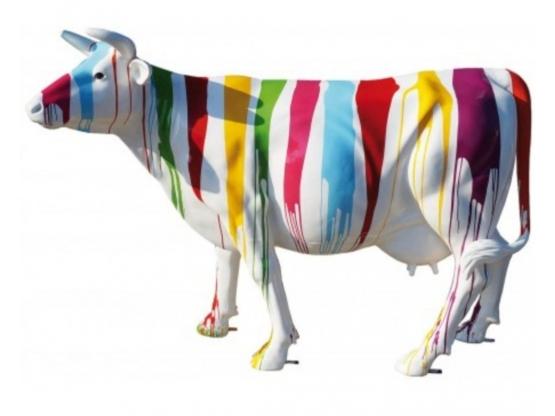 Sculpture de Vache grandeur nature trash - 225cm