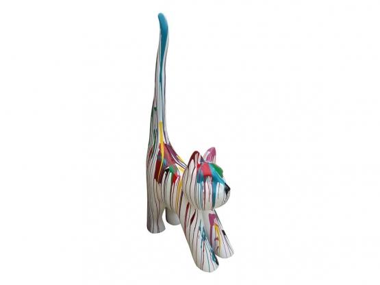 Sculpture Chat en Résine Design Trash XXL - 205 CM