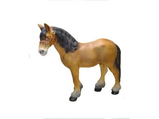 Statue cheval en résine - 50 cm