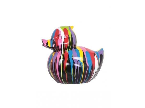 Sculpture Canard Design Trash Noir en Résine - 45 CM