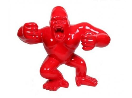 Sculpture Singe, Gorille, Donkey Kong Coloré en Résine - 70 CM