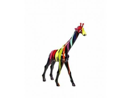 Sculpture en résine Girafe colorée - 140 cm
