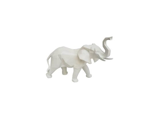 Sculpture Éléphant Noir en Résine - 40 CM