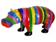 Sculpture Hippopotame multicolore XL en Résine - 95 CM Multicolore 1