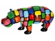 Sculpture Hippopotame multicolore XL en Résine - 95 CM Smarties 1