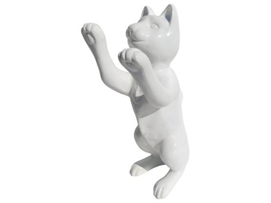Sculpture Chat pattes levées en Résine - 55 CM