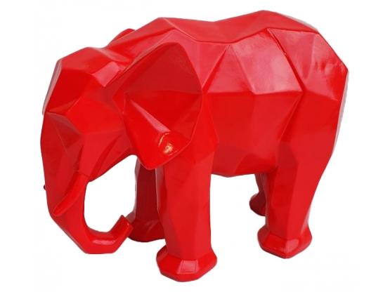 Sculpture Éléphant Origami en Résine - 45 CM
