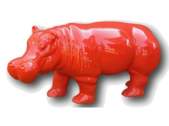 Hippopotame en résine XXL
