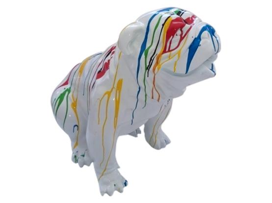 Sculpture Bouledogue Anglais Assis Trash - 75 cm