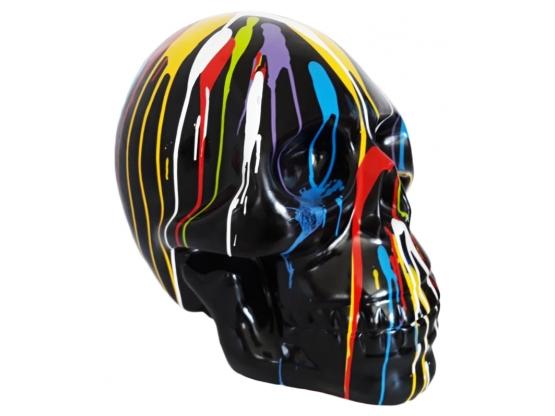 Statue en résine Crâne XXL design Trash Noir - 70 cm