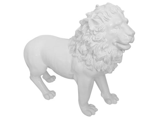 Sculpture Lion Design Blanc - 100 cm