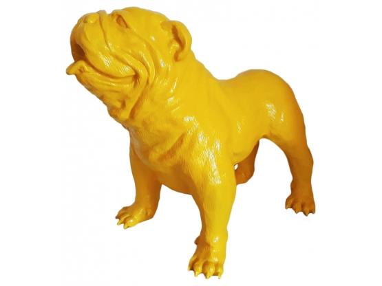 Sculpture Bouledogue anglais en résine - 90 cm