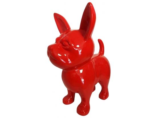 Sculpture en résine Chihuahua monochrome BRILLANT - 90 cm