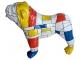 Sculpture Bouledogue anglais en résine coloré - 90 cm Smarties 2