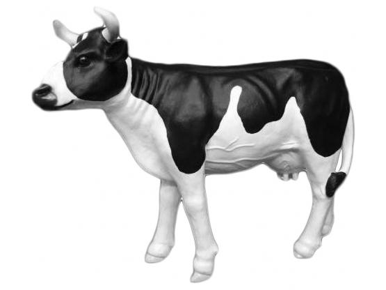 Statue en résine d'une vache grandeur nature - 140 cm
