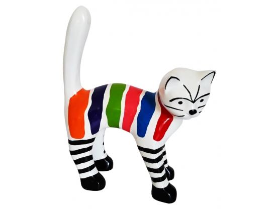 Sculpture en Résine Chat Multicolore - 45 CM