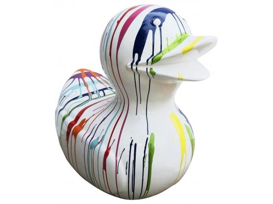 Sculpture en Résine Canard design Trash Blanc XXL - 90 cm