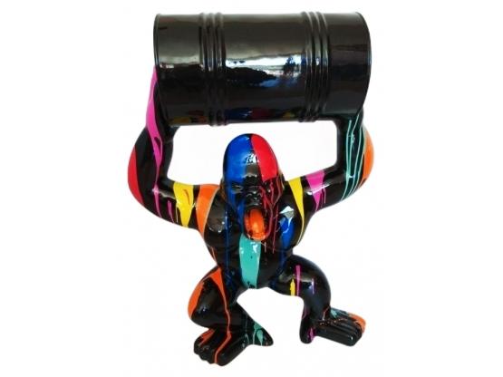 Sculpture en résine Gorille bidon - 100 cm