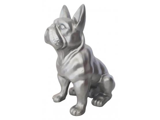 Sculpture Bouledogue Français Assis en Résine - 30 cm