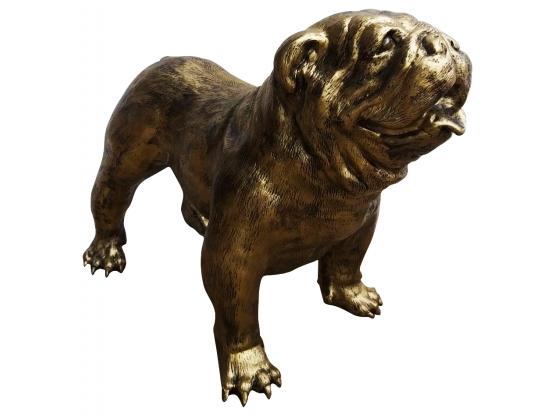 Sculpture Bouledogue anglais en résine Bronze - 90 cm