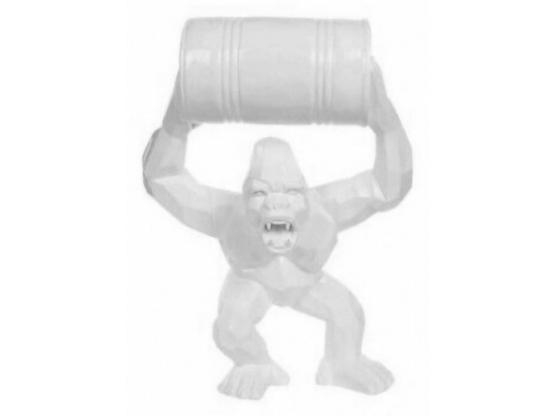 Sculpture en Résine Gorille Bidon monochrome - 70 cm