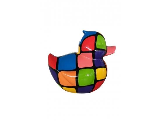 Sculpture Canard Smarties en Résine - 45 CM