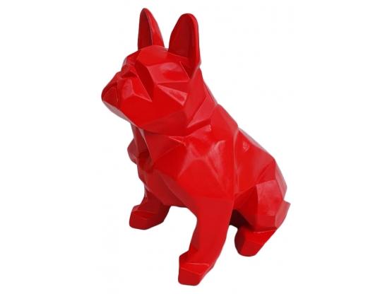 Sculpture Bouledogue Français Design Origami en Résine - 35 cm