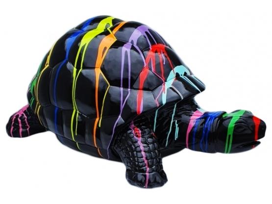 Sculpture Tortue Multicolore en Résine - 110 CM