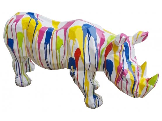 Sculpture en Résine Rhinocéros Origami - 110 CM