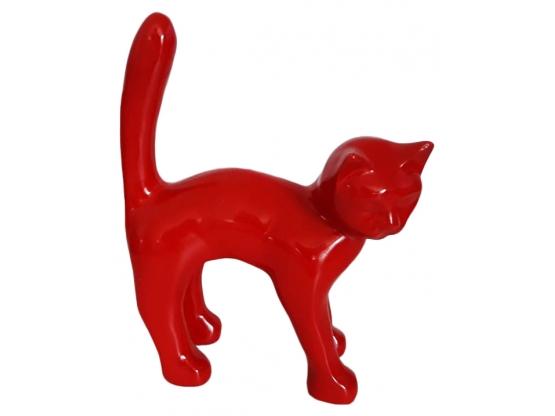 Sculpture Chat Monochrome en Résine - 45 CM