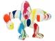 Sculpture Gorille Design Trash Blanc - 45 CM Blanc multicolore