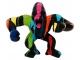 Sculpture Gorille Design Trash Blanc - 45 CM Noir multicolore