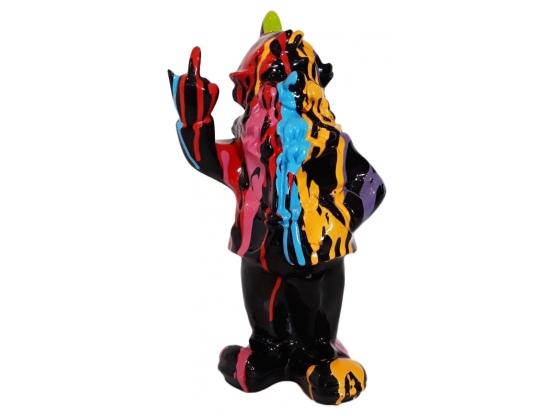 Sculpture Nain Design Trash en Résine - 33 CM