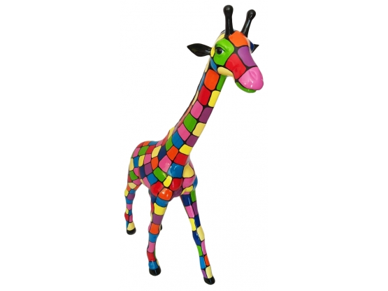 Sculpture Girafe Smarties en Résine - 140 CM