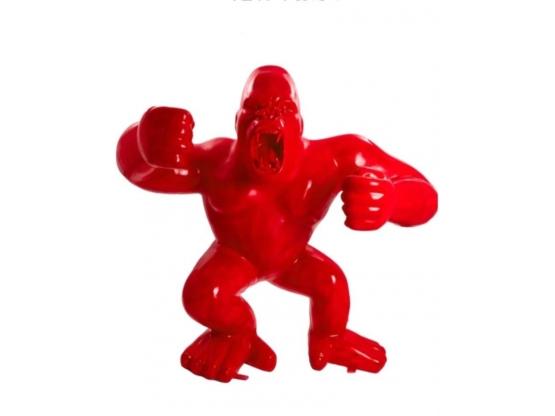 Sculpture de Gorille Rouge XXL 210 CM